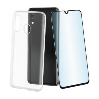 Pack Muvit MUPAK0431 Funda Cristal Soft + Protector Vidrio Templado para Samsung Galaxy A40/ Transparente - Imagen 1
