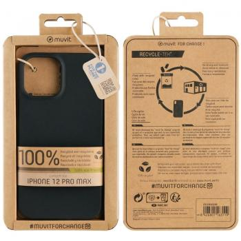 Funda Muvit For Change MCCRS0048 para iPhone 12 Pro Max/ Negro - Imagen 1