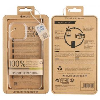 Funda Muvit For Change MCCRS0049 para iPhone 12 Pro Max/ Transparente - Imagen 1