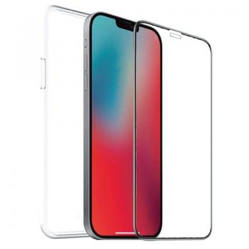 Pack Muvit For Change MCPAK0039 Funda Cristal Soft + Protector Vidrio Templado para iPhone 12 Mini/ Transparente - Imagen 1