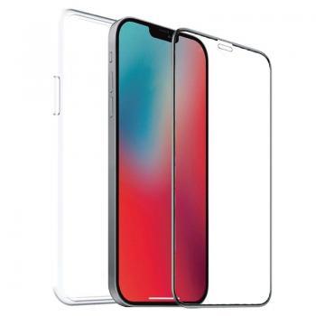 Pack Muvit For Change MCPAK0040 Funda Cristal Soft + Protector Vidrio Templado para iPhone 12/ 12 Pro/ Transparente - Imagen 1