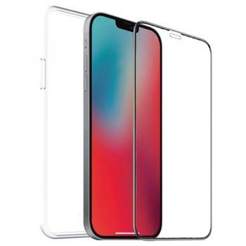 Pack Muvit For Change MCPAK0041 Funda Cristal Soft + Protector Vidrio Templado Plano para iPhone 12 Pro Max/ Transparente - Imag