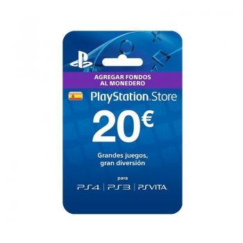 TARJETA SONY PREPAGO 20 EUROS COMPATIBLE CON PS4 - PS3 - PSVITA - Imagen 1