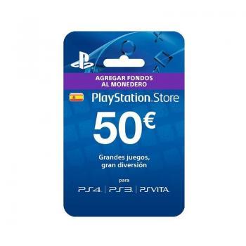 TARJETA SONY PREPAGO 50 EUROS COMPATIBLE CON PS4 - PS3 - PSVITA - Imagen 1