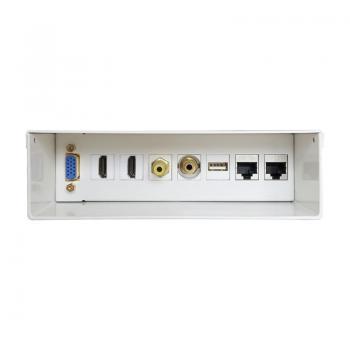 Caja De Conexiones Aisens A127-0340/ VGA - 2*HDMI - JACK3.5 - RCA - 1*USB - 2*RJ45 - Imagen 1