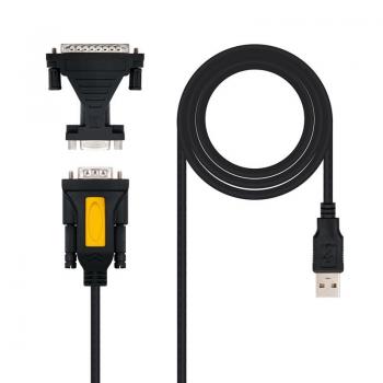 Adaptador Nanocable 10.03.0002/ USB Macho - DB9 Macho/ DB25 Macho - Imagen 1