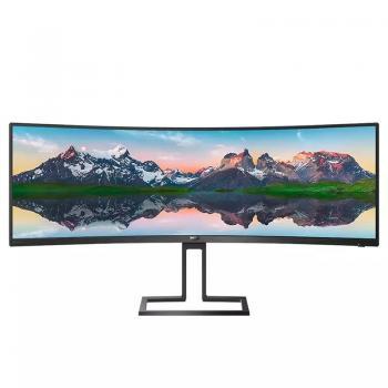 Monitor Ultrapanorámico Curvo Philips 498P9 48.8'/ 5120 x 1440/ Multimedia/ Negro - Imagen 1