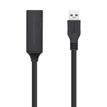 Cable Alargador USB 3.0 Aisens A105-0409/ USB Macho - USB Hembra/ 15m/ Negro - Imagen 1