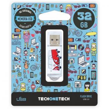Pendrive 32GB Tech One Tech Camper VAN-VAN USB 2.0 - Imagen 1