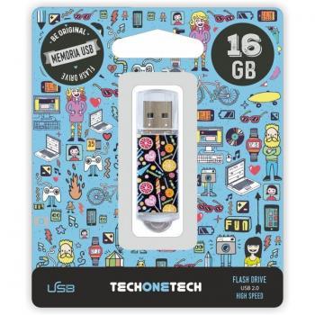 Pendrive 16GB Tech One Tech Candy Pop USB 2.0 - Imagen 1