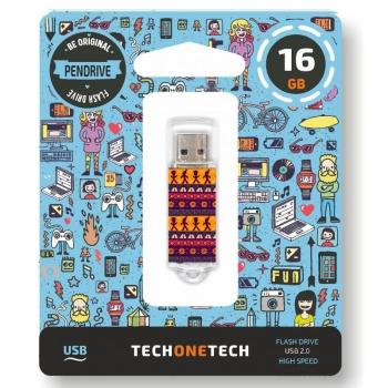 Pendrive 16GB Tech One Tech Tribal Questions USB 2.0 - Imagen 1