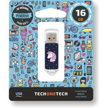 Pendrive 16GB Tech One Tech Unicornio Dream USB 2.0 - Imagen 1