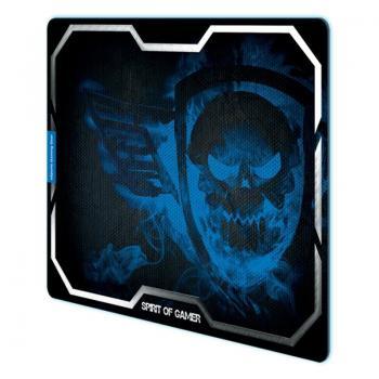 Alfombrilla Spirit of Gamer Smokey Skull XL/ 435 x 323 x 3 mm/ Azul - Imagen 1