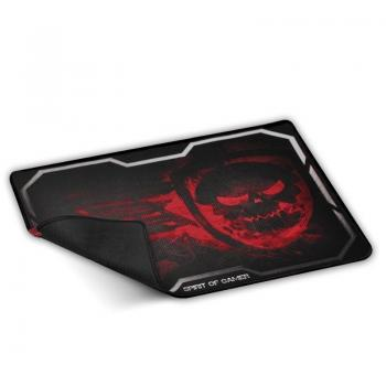 Alfombrilla Spirit of Gamer Smokey Skull L/ 435 x 323 x 3 mm/ Rojo - Imagen 1