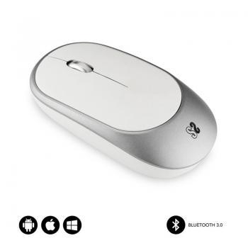 Ratón Inalámbrico por Bluetooth Subblim Smart/ Hasta 1600 DPI/ Blanco Plata - Imagen 1
