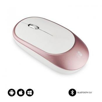 Ratón Inalámbrico por Bluetooth Subblim Smart/ Hasta 1600 DPI/ Rosa Oro - Imagen 1