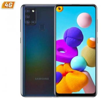 Smartphone Samsung Galaxy A21S 3GB/ 32GB/ 6.5'/ Negro - Imagen 1