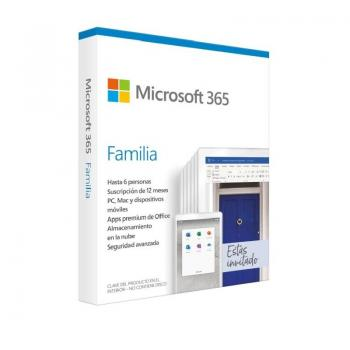 Microsoft Office 365 Familia/ 6 Usuarios/ 1 Año/ Multidispositivo - Imagen 1
