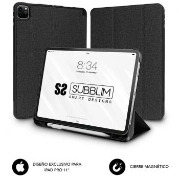 Funda Subblim Shock Case para Tablet iPad 11' 2020/ Negra - Imagen 1