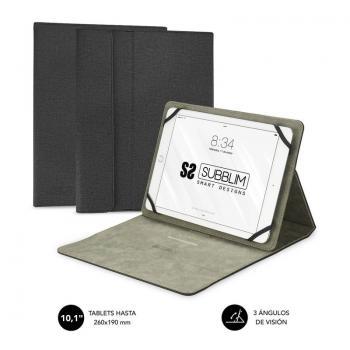 Funda Subblim Clever Stand para Tablets de 10.1'/ Negra - Imagen 1