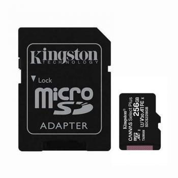 Tarjeta de Memoria Kingston CANVAS Select Plus 256GB microSD XC con Adaptador/ Clase 10/ 100MBs - Imagen 1