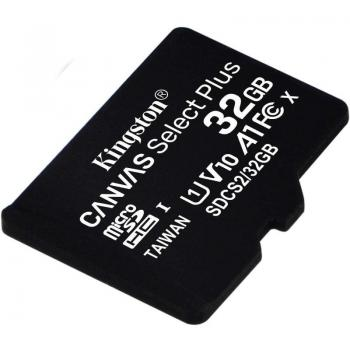 Tarjeta de Memoria Kingston CANVAS Select Plus 32GB microSD HC/ Clase 10/ 100MBs - Imagen 1