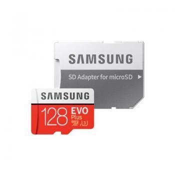 Tarjeta de Memoria Samsung EVO Plus 128GB microSD XC con Adaptador/ Clase 10/ 100MBs - Imagen 1