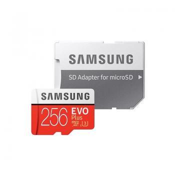 Tarjeta de Memoria Samsung EVO Plus 256GB microSD XC con Adaptador/ Clase 10/ 100MBs - Imagen 1