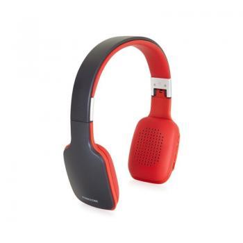 Auriculares Inalámbricos Fonestar Slim-R/ con Micrófono/ Bluetooth/ Gris/ Rojo - Imagen 1
