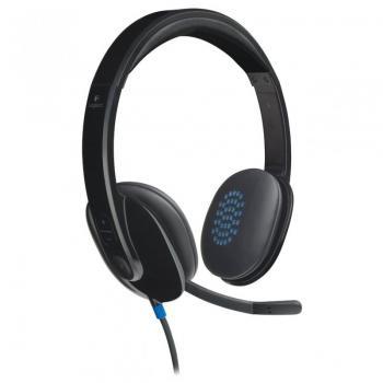 Auriculares Logitech H540/ Con Micrófono/ USB/ Negro - Imagen 1