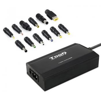 Cargador de Portátil TooQ TQLC-100BS01M/ 100W/ Manual/ 12 Conectores/ Voltaje 12-24V - Imagen 1