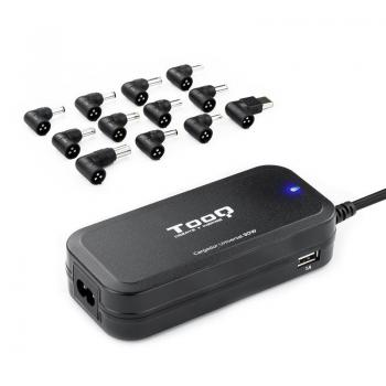 Cargador de Portátil TooQ TQLC-90BS02AT/ 90W/ Automático/ 12 Conectores/ Voltaje 12-20V - Imagen 1