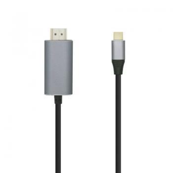 Cable Conversor Aisens A109-0393/ USB Tipo-C Macho - HDMI Macho/ 1.8m/ Negro - Imagen 1