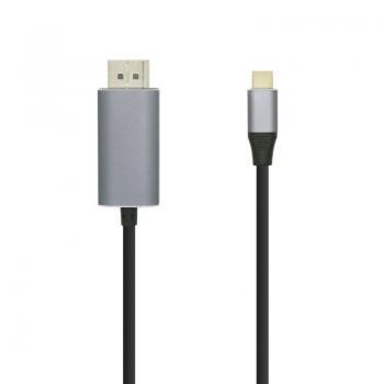 Cable Conversor Aisens A109-0395/ USB Tipo-C Macho - Displayport Macho/ 1.8m/ Negro - Imagen 1