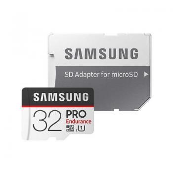 Tarjeta de Memoria Samsung PRO Endurance 32GB microSD HC con Adaptador/ Clase 10/ 100MBs - Imagen 1