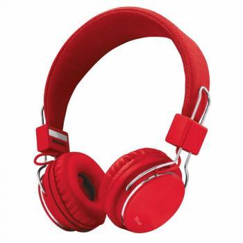 Auriculares Trust Urban Ziva 21822/ con Micrófono/ Jack 3.5/ Rojo - Imagen 1