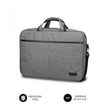 Maletín Subblim Elite Laptop Bag para Portátiles hasta 14'/ Cinta para Trolley/ Gris - Imagen 1