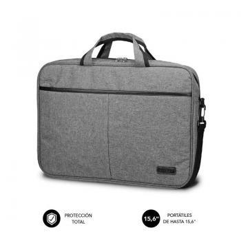 Maletín Subblim Elite Laptop Bag para Portátiles hasta 15.6'/ Cinta para Trolley/ Gris - Imagen 1