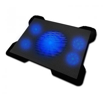 Soporte Refrigerante Woxter Notebook Cooling Pad 1560R para Portátiles hasta 17'/ Iluminación LED - Imagen 1