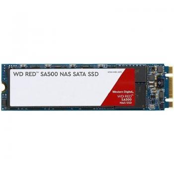 DISCO SÓLIDO WESTERN DIGITAL RED SA500 NAS - 500GB - SATA III - M.2 2280 - LECTURA 560MB/S - ESCRITURA 530MB/S - ESPECIAL NAS -