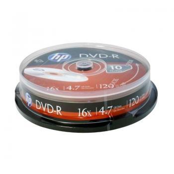 DVD-R HP DME00026-3 16X/ Tarrina-10uds - Imagen 1