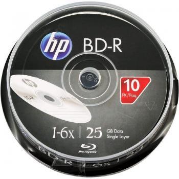 Blu-Ray HP BRE00071-3 BD-R 6X/ Tarrina-10uds - Imagen 1
