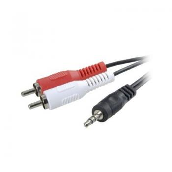 Cable Estéreo 3GO CA101/ Jack 3.5 Macho - 2x RCA Macho/ 2m - Imagen 1