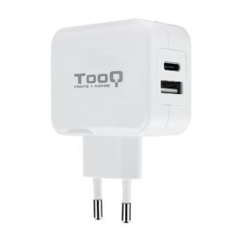 Cargador de Pared TooQ TQWC-2SC02WT/ 2xUSB/ 27W - Imagen 1