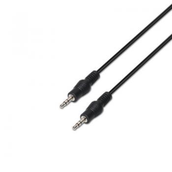 Cable Estéreo Aisens A128-0144/ Jack 3.5 Macho - Jack 3.5 Macho/ 10m/ Negro - Imagen 1
