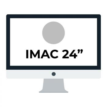 Apple iMac 24' Retina 4.5K/ Chip M1 CPU 8 Núcleos/ 8GB/ 256GB/ GPU 8 Núcleos/ Plata - Imagen 1