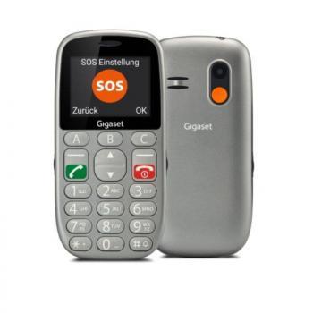 Teléfono Móvil Gigaset GL390 para Personas Mayores/ Gris - Imagen 1