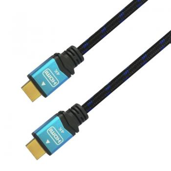 Cable HDMI Aisens A120-0355/ HDMI Macho - HDMI Macho/ 0.5m/ Negro/ Azul - Imagen 1