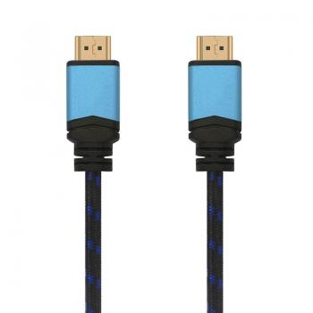Cable HDMI Aisens A120-0359/ HDMI Macho - HDMI Macho/ 5m/ Negro/ Azul - Imagen 1