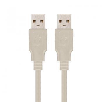Cable USB Nanocable 10.01.0303/ USB Macho - USB Macho/ 2m/ Beige - Imagen 1